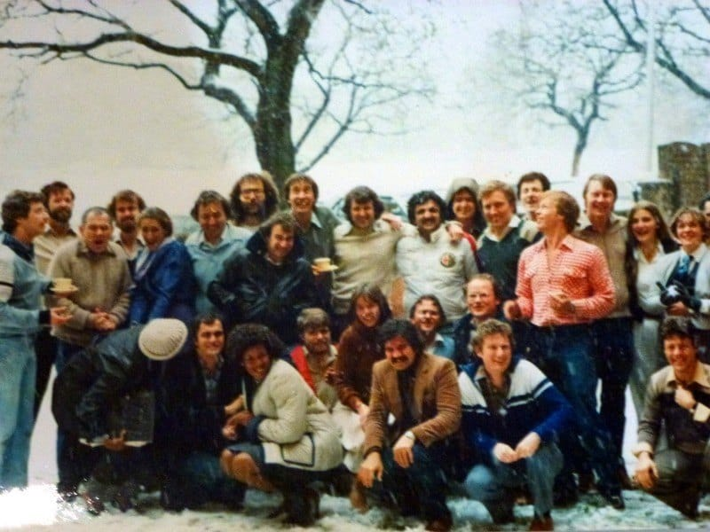 Chaim Group Photo in the snow